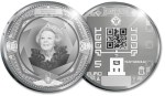 2011 Commemorative celebrating the 100th anniversary of the Royal Dutch Mint's facilities with QR code