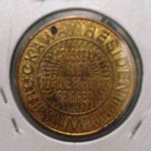 Reverse of the Triborough Bridge and Tunnel Authority Rockaways resident token.