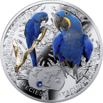 Niue 2014 One Dollar Hyacinth Macaw - Endangered Species of Animals 1/2 Oz Proof Silver Coin