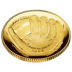 2014 National Baseball Hall of Fame Commemorative Proof $5 gold coin obverse