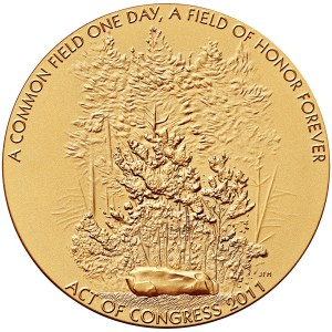 Obverse of the Flight 93 Fallen Heroes medal designed and engraved by Joseph Menna