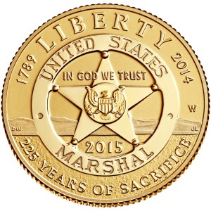2015 U.S. Marshals Service 225th Anniversary $5 Gold Commemorative