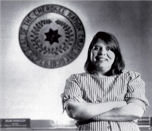 Wilma Mankiller, the first female principal chief of the Cherokee Nation