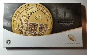 Outer packaging of the 2015 American $1 Coin and Currency Set