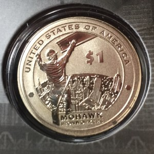 2015-W Native American Dollar Reverse celebrating the Mohawk Iron Workers