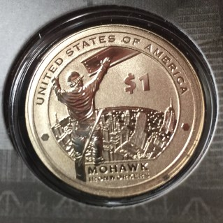 2015-W Native American Dollar Enhanced Uncirculated Reverse celebrating the Mohawk Iron Workers
