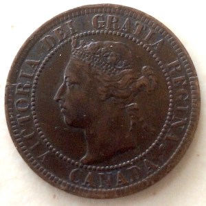 1901 Dominion of Canada Large Cent obverse —Last year of Victoria Cent