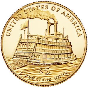2016 Mark Twain Commemorative Gold $5 reverse