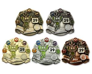 Leap Day 2016 Geocoins (courtesy of Geo Coin Shoppe)