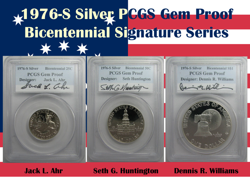 1976-S Silver Proof Bicentennial Autograph Set