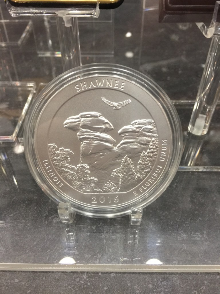 Shawnee National Forest 5 ounce silver coin