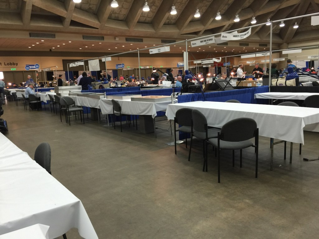 Dealer attendance inside Hall B