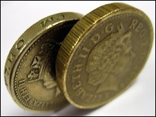 Detecting counterfeit £1 coins
