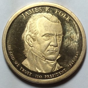 2009-S James K. Polk Dollar PROOF found in change