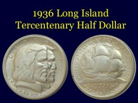 1936 Long Island Tercentenary Half Dollar