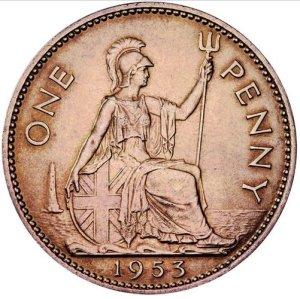 British pre-decimalization Penny