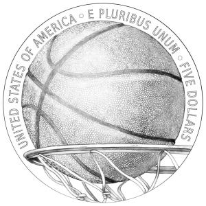 Naismith Memorial Basketball Hall of Fame Commemorative Coin reverse