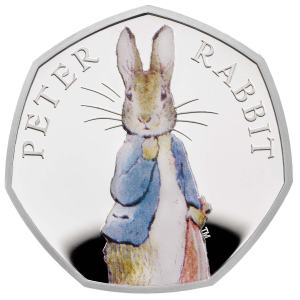 2019 UK Peter Rabbit 50p Silver Proof Coin