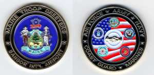 Maine Troop Greeters Coin