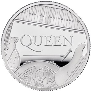 Queen 2020 UK Half Ounce Silver Proof Coin reverse - UK20QUHS