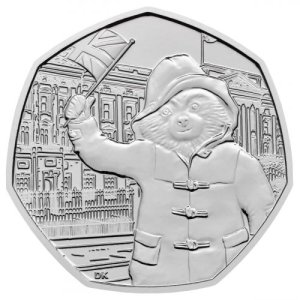 2018 British Paddington Bear 50p coin