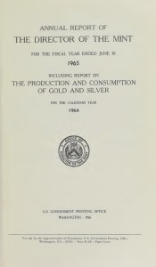 1965 U.S. Mint Annual Report