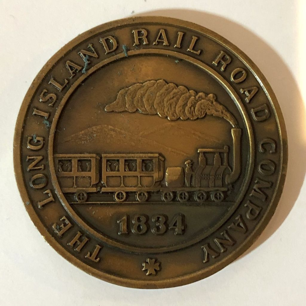 LIRR Sesquicentennial Medal Reverse