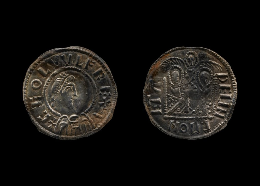 Coins featuring Anglo-Saxon Kings Ceolwulf II, of Mercia, and Alfred, of Wessex