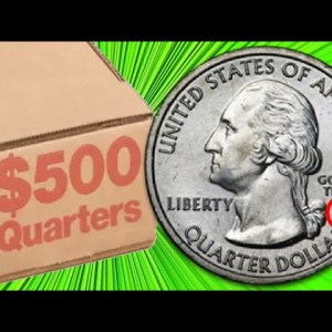 RARE COIN FOUND INSIDE A ROLL OF QUARTERS! COIN ROLL HUNTING QUARTERS COMPETITION HUNT