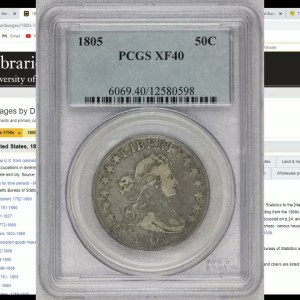 What Secrets Is This $1,750 Coin Hiding ? 1805 Draped Bust Half Dollar