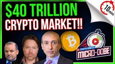 CRYPTO RACING TOWARD A $40 TRILLION MARKET CAP.