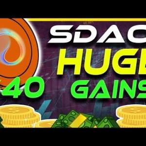 SDAO Pumps! $40 SDAO This Bull Run? | SDAO Analysis & Update | Crypto News Today