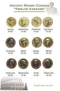 12 caeasars set gold