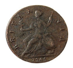 british halfpence
