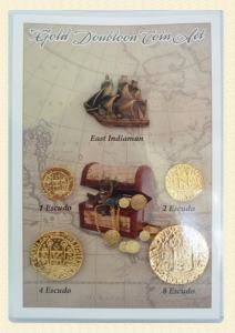 gold doubloon coin set