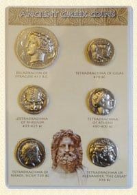 ancient greek coin set
