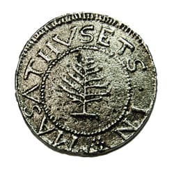 pine tree shilling, front