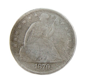Seated Liberty silver dollar 1870
