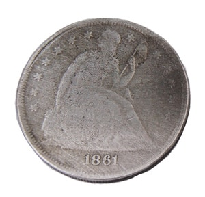 seated liberty 1861 coin
