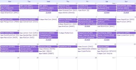 Altcoin Kalender