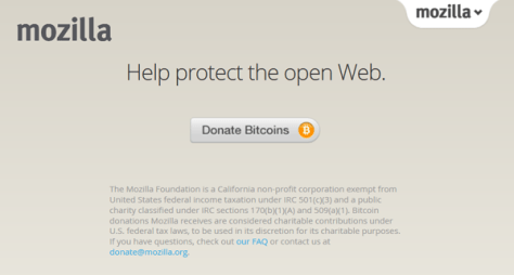 mozilla accepts bitcoin