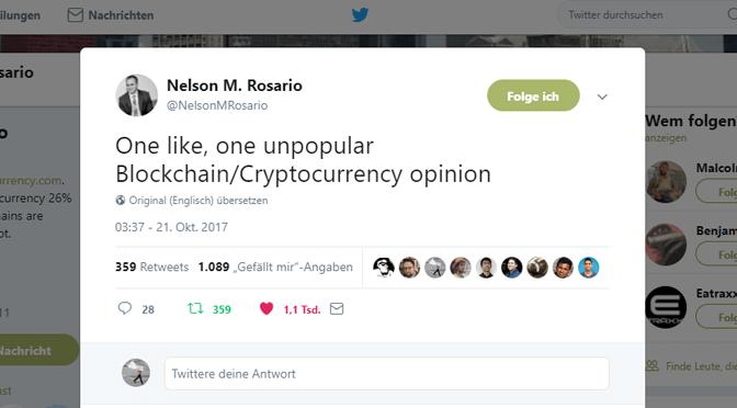 Twitter-Rant gegen all den Blockchain-Bullshit