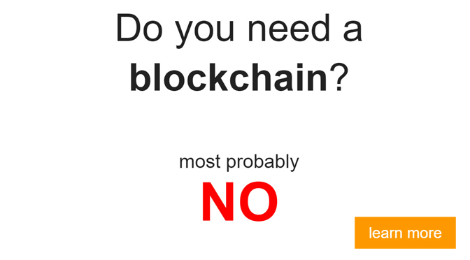 Blockchain oder nicht? – Die Entscheidungshilfe
