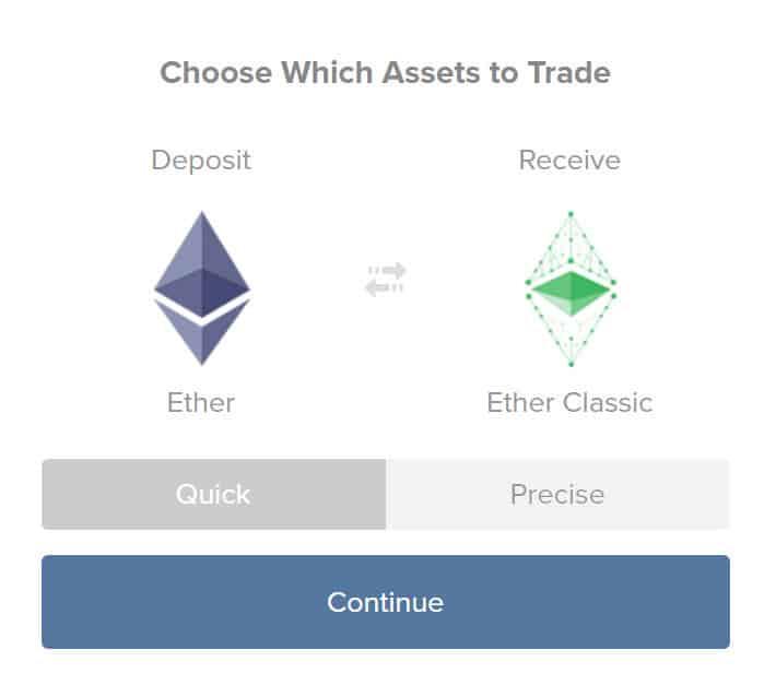 Buy ETC fromShapeShift