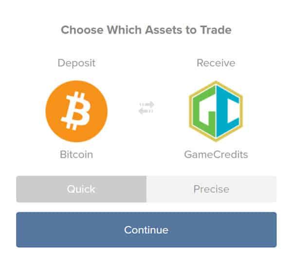 BuyGameCredits fromShapeshift