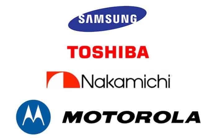 Samsung Toshiba Nakamichi Motorola