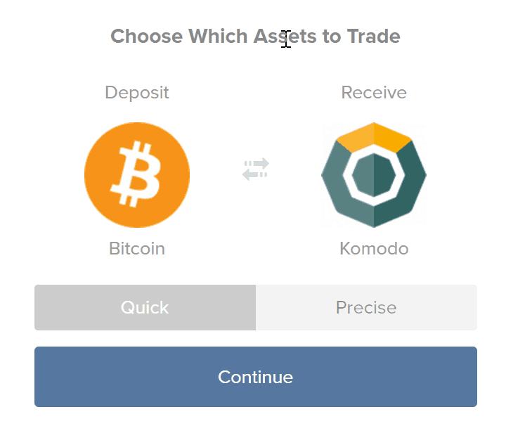 Buy Komodo fromShapeShift