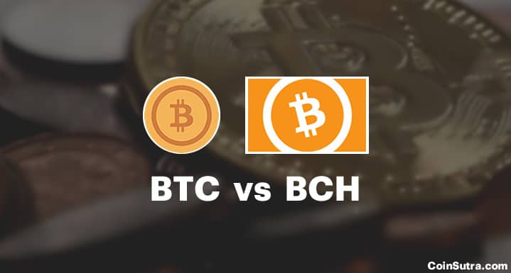 BTC vs BCH - Bitcoin vs Bitcoin Cash