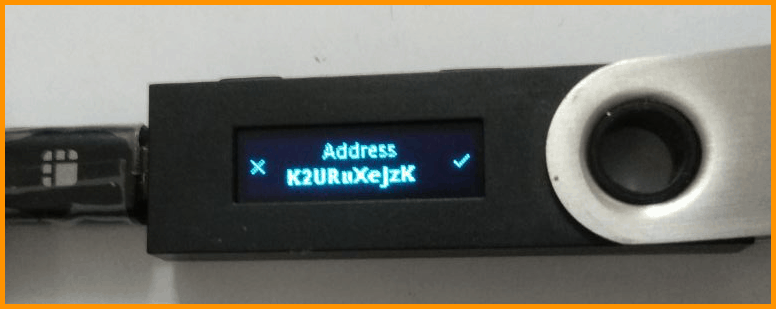 Address on Ledger hardware wallet