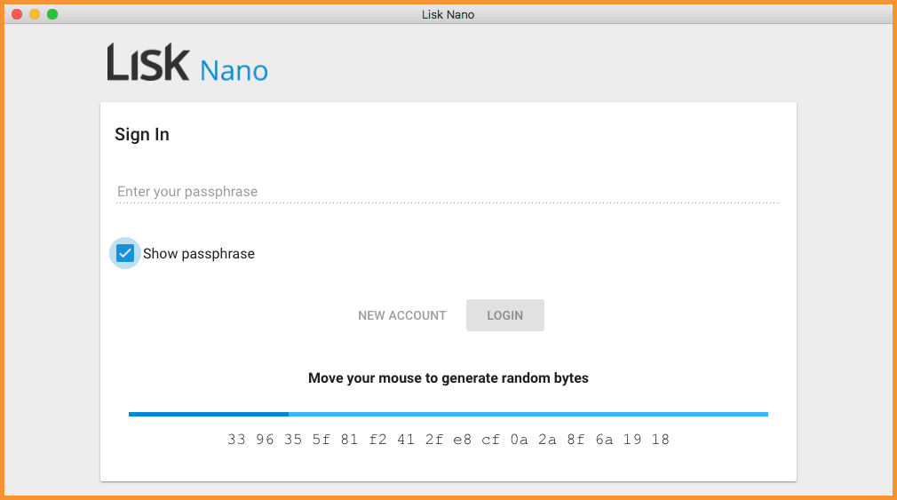 Lisk Nano Wallet